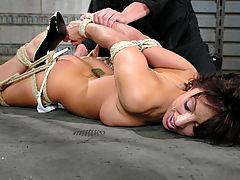 Pussy Movie, Fiery, sexy brunette gets bound and disciplined with water torture