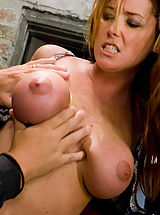 Cunt, Glamour model Christina Carter bound, tortured and made to cum.