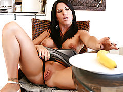 Clitoris, Anilos kendra secrets reaches for banana to shove in her pussy!