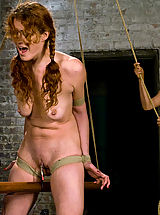 Clitoris, Donna shocks, tortures and fists willing submissive Sabrina
