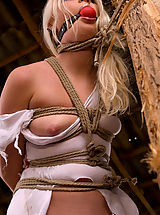 Fetish Babes: Beautiful Russian blonde tries bondage for the first time