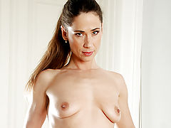 Babes, After exercising sensual milf pepper plays with her excited pussy