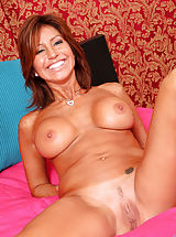 Tan Line Babes: Tara Holiday slips off her lingerie to show us her pretty landing strip pussy