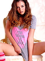 Teen Babes: Pretty young thing Allie Haze gets down and dirty with her non virginal, curvy body!