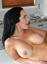 Busty Babes, Busty brunette girl meet stranger and they have hot orgasmic sex with each other.
