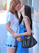 Lesbians Pics: Tamara and Lacie make out and finger bang