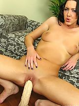 Brutal Dildos Pics: Audrey stuffs her pussy with a dildo