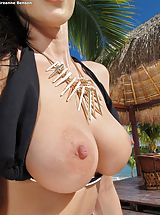 Bare Sexy Adulteress 947 Breanne Benson shows those tremendous boobs