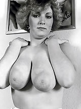 Historic Shoot-out - Huge Knockers with Big Nipples against Small Breasts in 50 s Pornography of the Seventies and Sixties