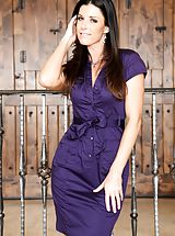 India Summer Amazing Woman uncovers her bare knockers, draws down her panties and spreads her thighs and masturbates her moist slit