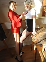 St. Mackenzies Pics: Secretaries in High Heels Danielle Mayes and Miss Abigail 2 in October 2011