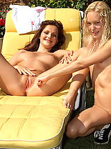 Lesbians Pics: sandra shine 04 shaved cunt wetpussy snatch