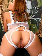 Asian Women cherry chen 08 negligee crotchless panties