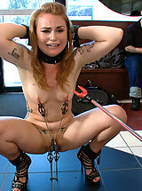Kink Pics: 22 year old girl gets taken to a tattoo shop where she is humiliated, spit on, fucked in bondage, and tattooed by everyone who uses her!