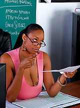 Secretary Babes: Carmen Hayes gets fucked on her desk