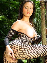 Naked Girl, Asian Women annie chui 09 forest bodystocking hanging
