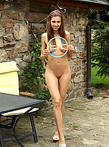 bikini, Eufrat's Pussy is Spread Wide with DreamCatcher for Panty Stuffing