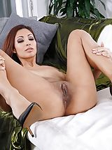 Labia Stretching, Photo Set No. 1348 Jade Jantzen unveils her own sizeable cans and bares her own solid slit