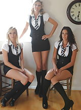 Student Charlotte-Louise Johnson and Holly Newberry and Nicola Rocco
