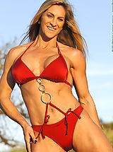 Cynthia Daniels Red Suit and Chains