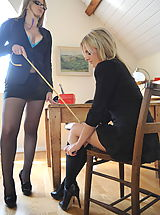 St. Mackenzies Pics: Secretaries in High Heels Amy Green and Miss Elise in April 2011