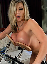 Kink Pics: Weird Sex Toys and Huge Dildos inside pussy of Sara Jay
