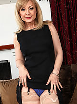Naughty America Pics: Hot mom Nina Hartley has rough sex with one of her sons friend.