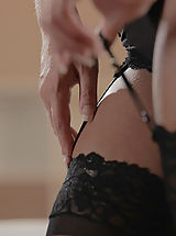 Lingerie Pussy: Black Lace Bliss