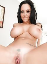 Pink Cunt, Bill Bailey, Ava Addams Sinful Slut exposes her bare tits, draws down her under garments and spreads her limbs and diddles her tight-fitting pussy