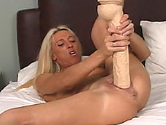Naked Babes, Megan drills pussy with dildo