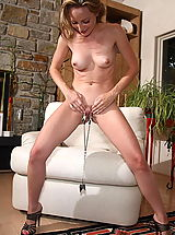 perfect pussy, tabitha 11 large labia shaved pussy clamps