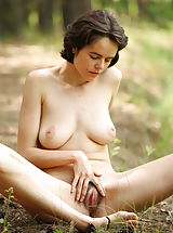 Wet Pussy, Sexy milf Rimma in the wild naked and beautifully hypnotic and seductive