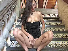 Sandra plays with her pussy