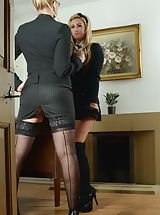 Stockings Pussy: Miss Drogan and Stephanie Wright
