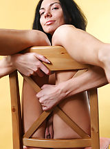 perfect pussy, Skinny brunette Sandra loves to pose her insolent nude body