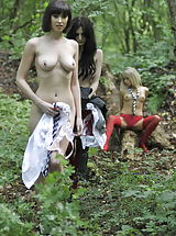 Lesbians Pussy: Carole Hunt and Jen Bailey and Samantha Bentley 2