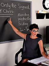 Secretary Pussy: Charlie James gets filled by her student