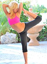 FTV Girls Pics: Jayde uses yoga to warm up for our shoot