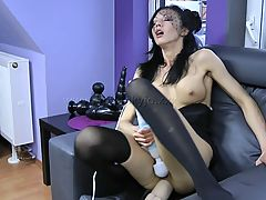 Hot Babes, 14,BLACK WIDOW HUGE TOY ANAL FUCK