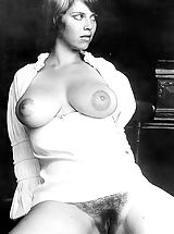 Hard Nipple Babes: Retro Style Nude Ladies