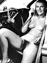 Vintage Pussy: Old and Funny 50 s 50s and 60s Photos Of Naturist Girls Exposing their Hirsute Pussies at Exposed Camps and Resorts