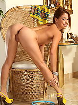 Small.Tits Pics: gigi rivera 01 yellow highheels labia stretcher
