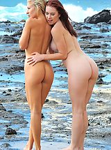 Bikini Babe, Lena and Melody Beach Bunnies