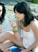 Leisure party in wilderness with the best friend always brings full satisfaction for soul. Never before seen gorgeous teens.